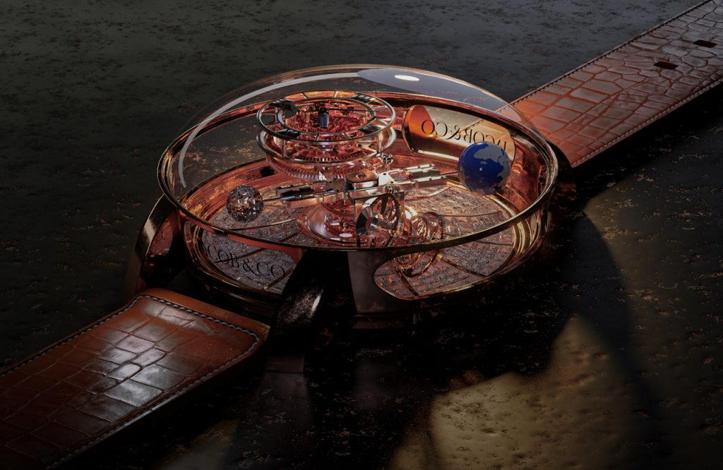 3D Product Render and Product Visualisation for Manufacture and Design-Watch by Jacob & Co