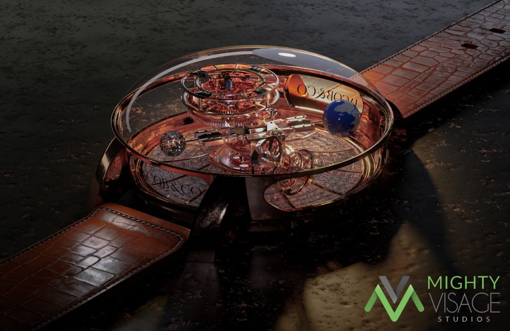 3D Product Render and Product Visualisation for Manufacture and Design - Watch by Jacob & Co
