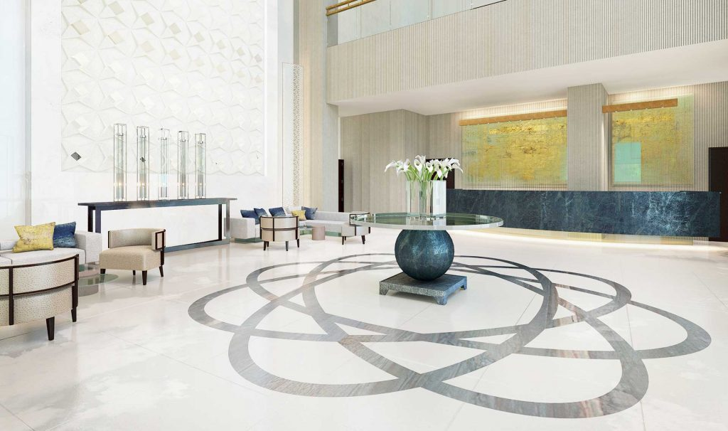 Commercial Architectural Rendering - Hotel Lobby CGI - Architectural Visualiser London