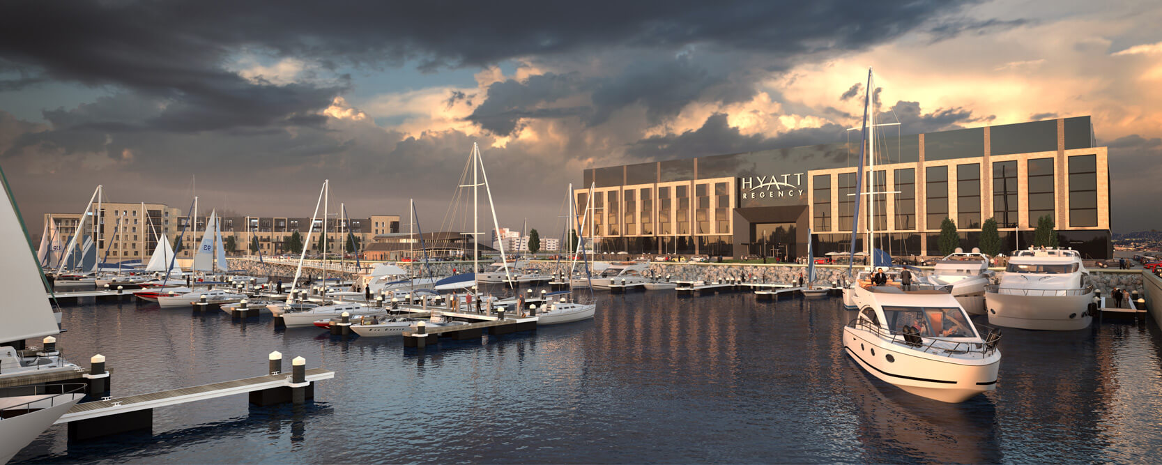 What Is Architectural Visualization - Exterior CGI - Edinburgh Marina