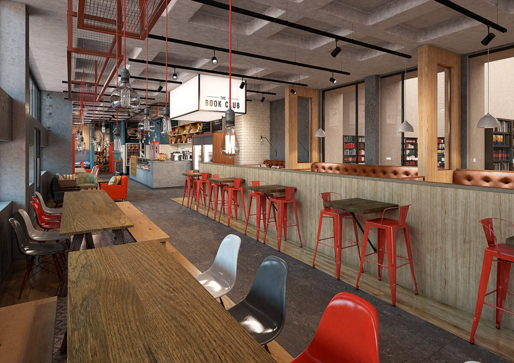 Commercial Interior 3D Visualisation - Cafe