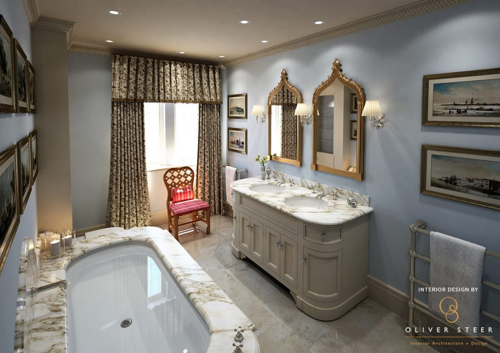 Luxury Bathroom Visuals for Oliver Steer