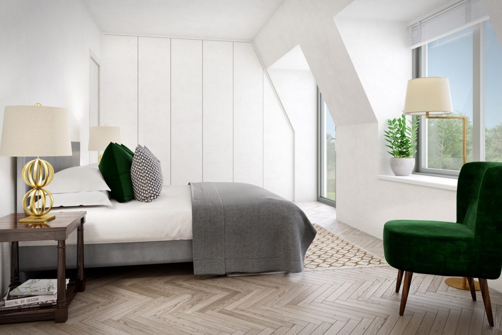 Caxton House - CGI Bedroom - Property Developer