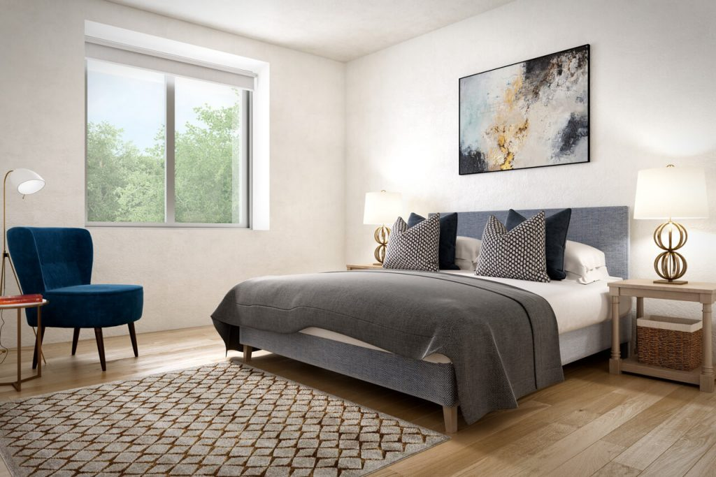 Caxton House - Double Bedroom CGI