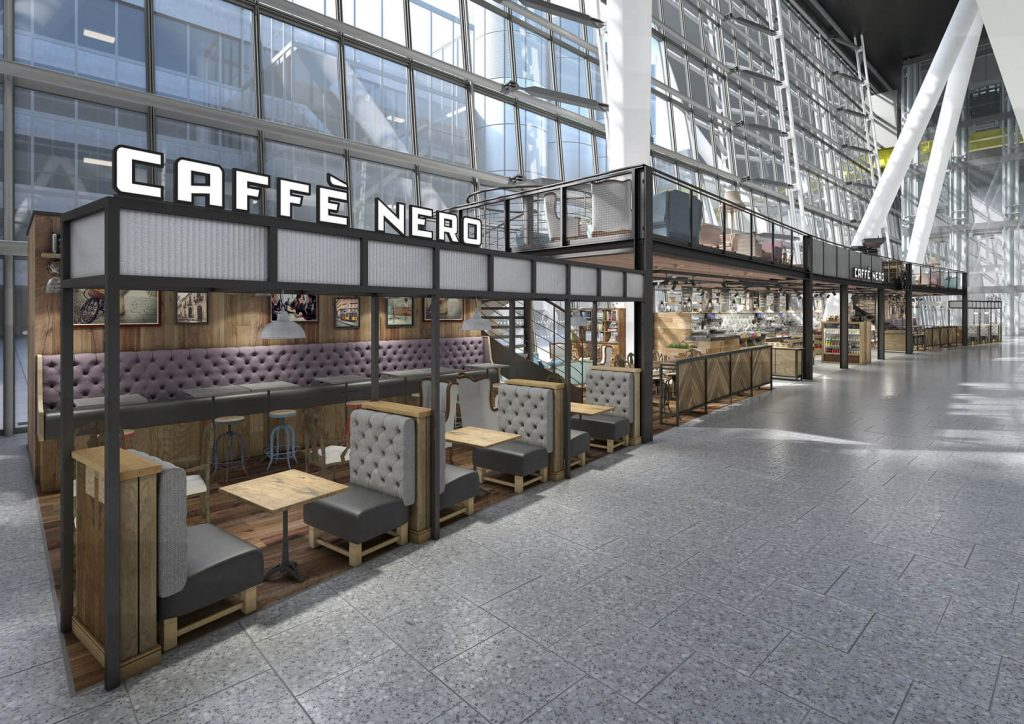 Commercial 3D Visuals for Cafes and Airports