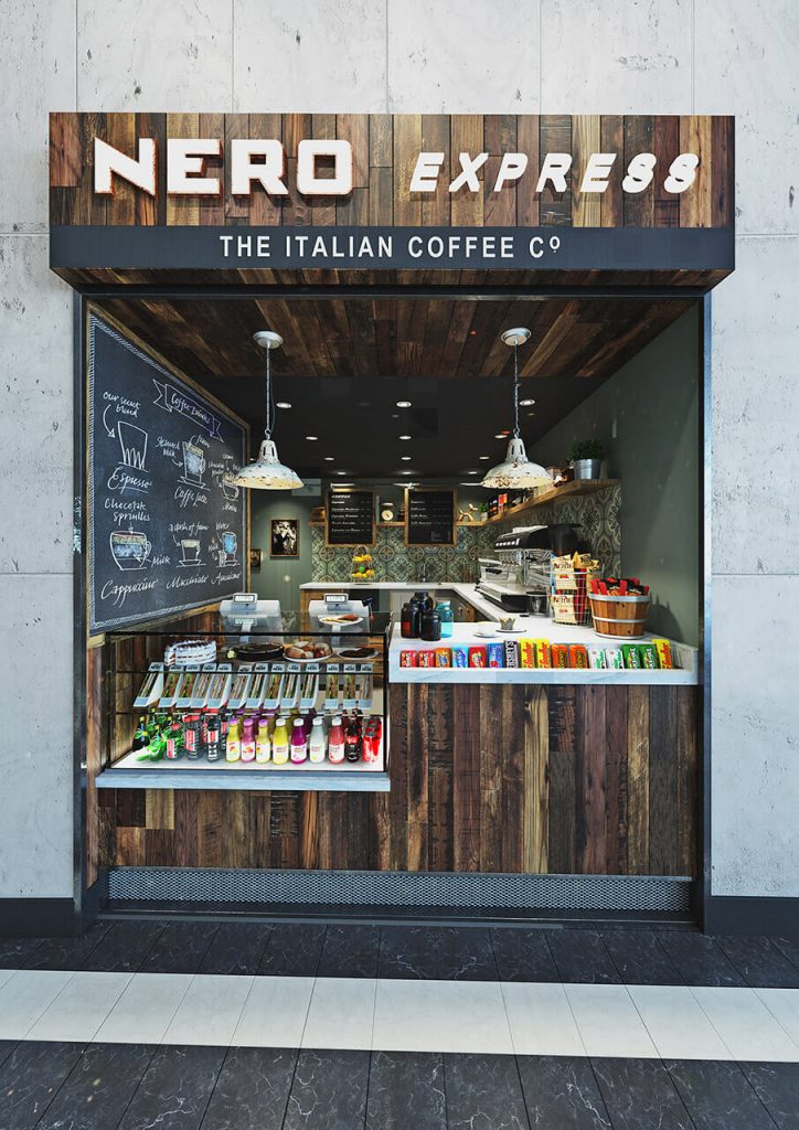 Caffe Nero CGI Commercial Render - - Architecture Render People