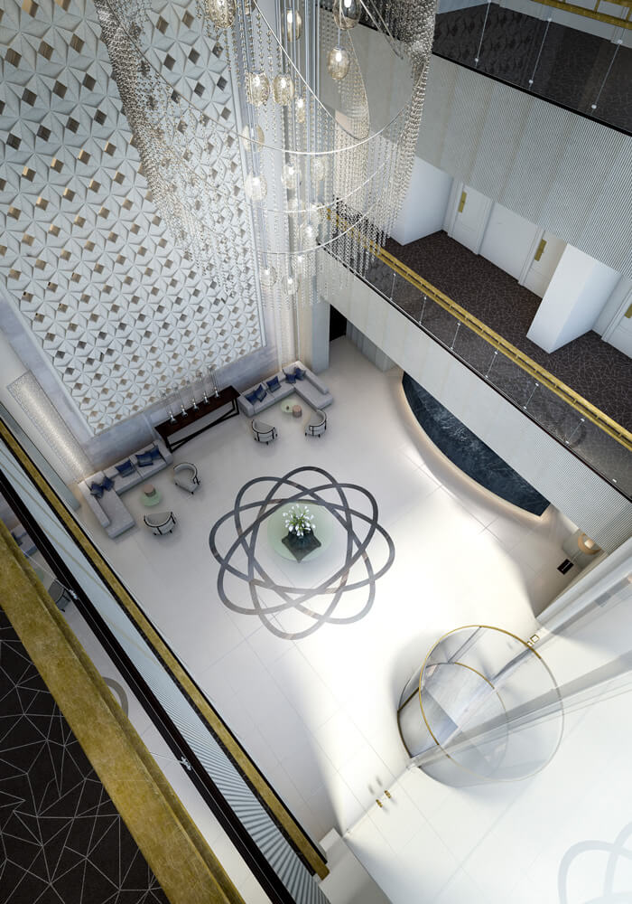 Best Architectural Renders - Emmanuel's Lobby for a Hotel