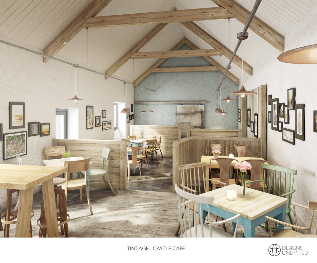 The Value of 3D Visuals - Interior Architecture Design for Cafe - Tintagel Castle