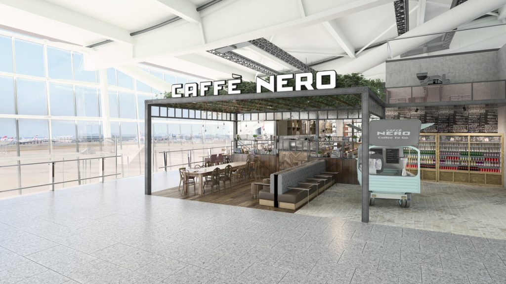 Interior Architecture for Airport Cafe