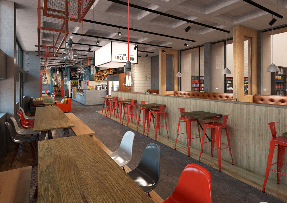 Commercial CGI Rendering for Ed Boyles Library Cafe