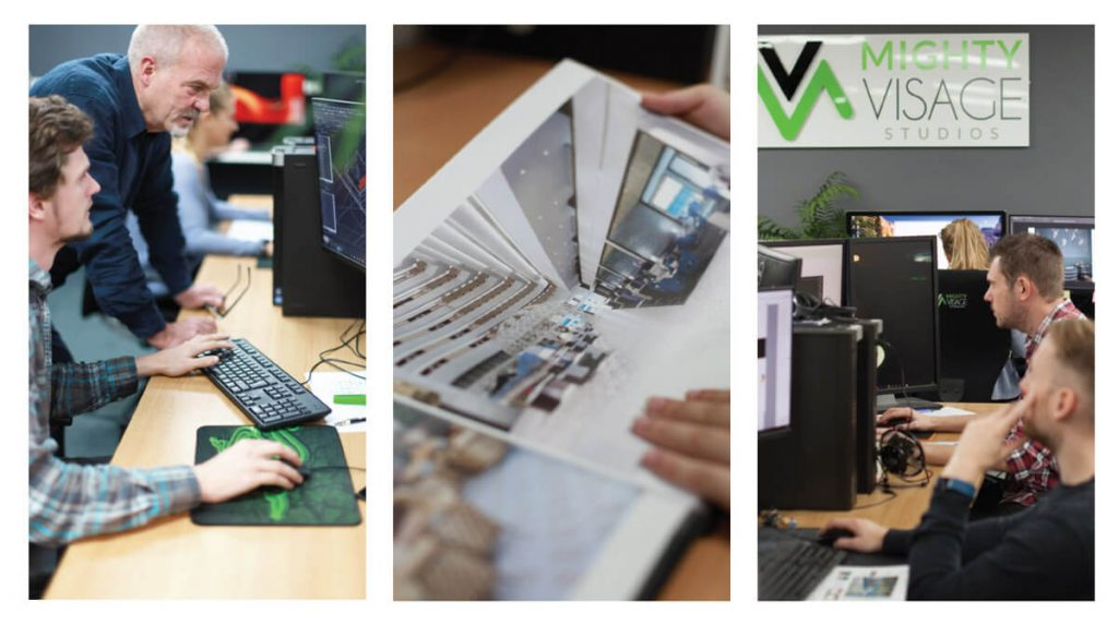 Our Fantastic Team of 3D Visualisers at Mighty Visage Studios