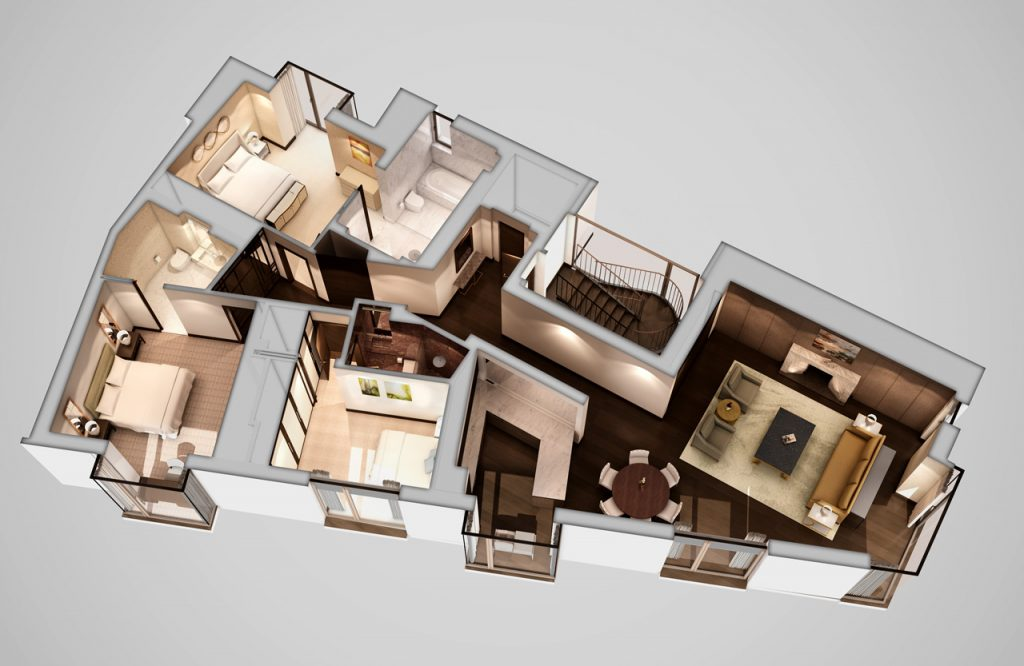 2nd Floor Living Space and Bedrooms