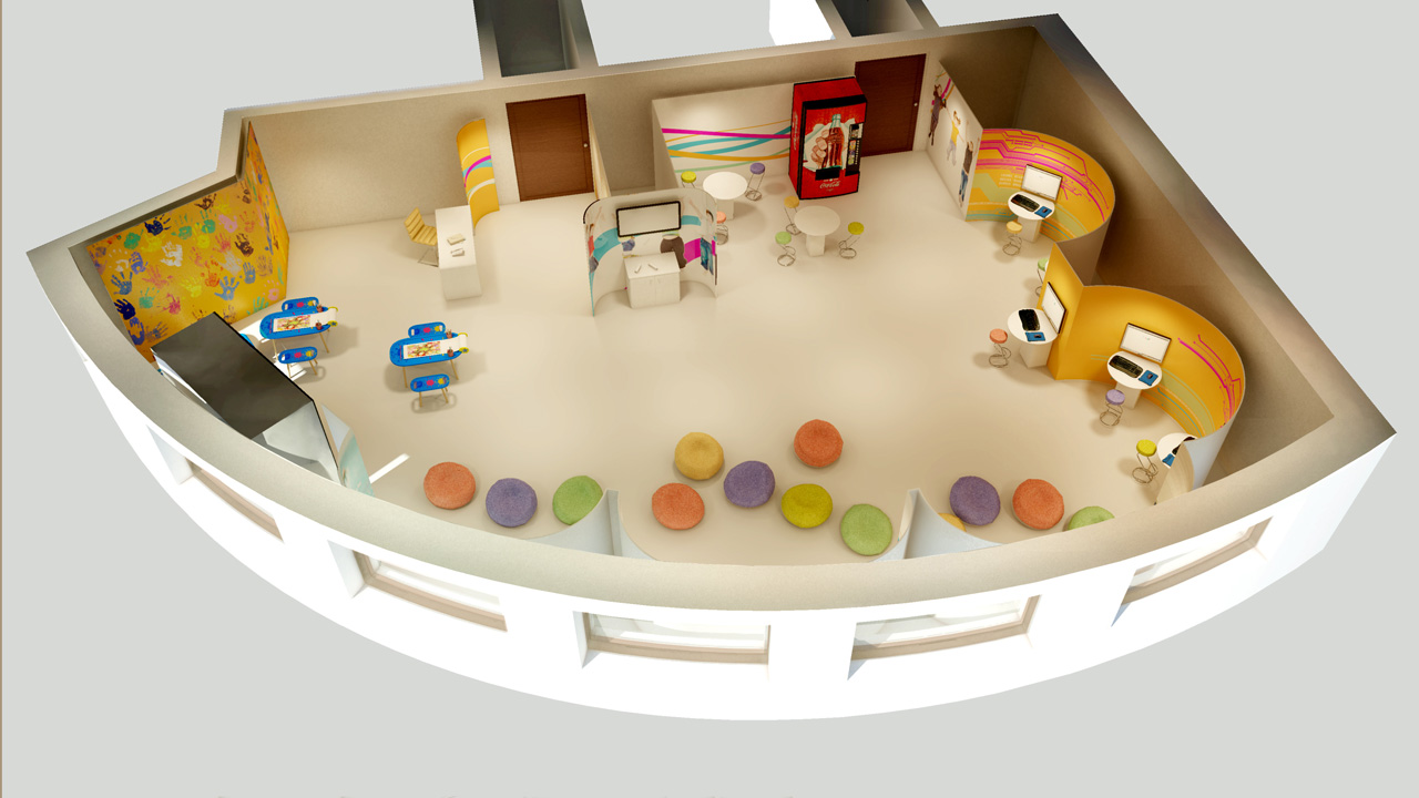 Rendered Floor Plan - Children's Play Area 3D Floor Plan
