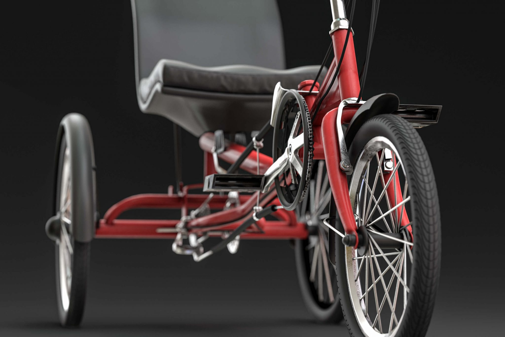 3D Product Visualization - Sit Down Tricycle