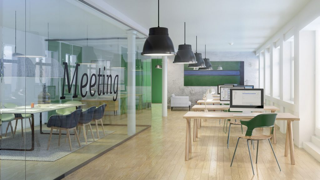 Office Fit Out 3D Visualisation - Meeting Room