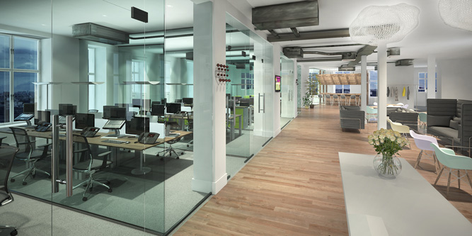 Office Fit Out 3D Visualisation - Office Space