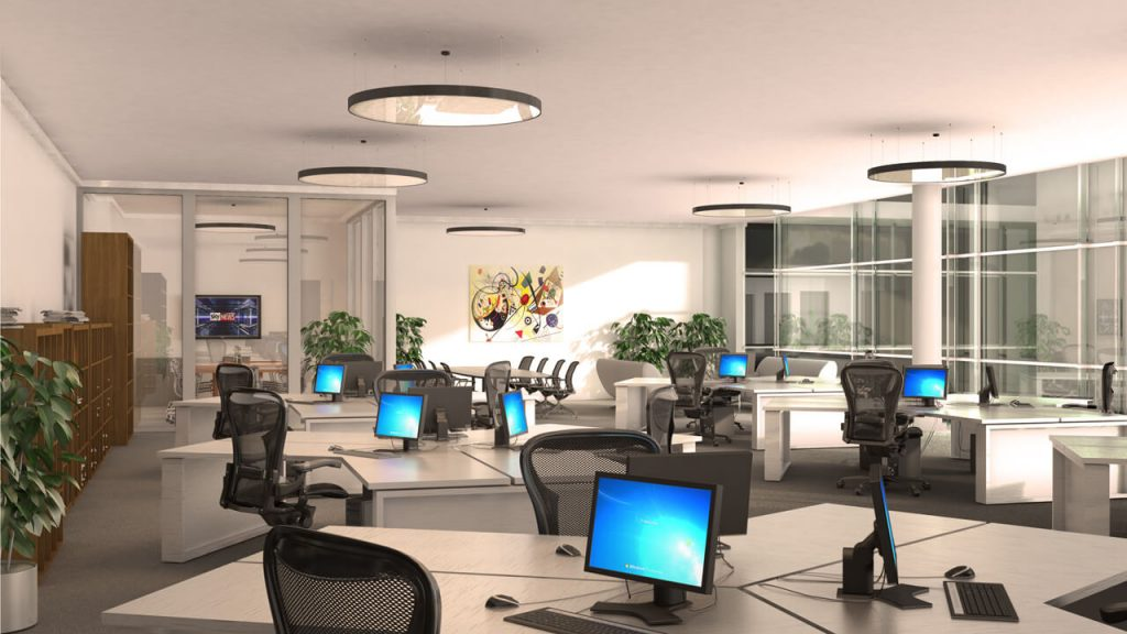 Office Fit Out 3D Visualisation - Workstations