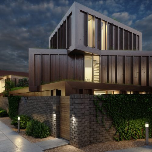 Evening Sky 3D Architectural Visuals - Paul Carter