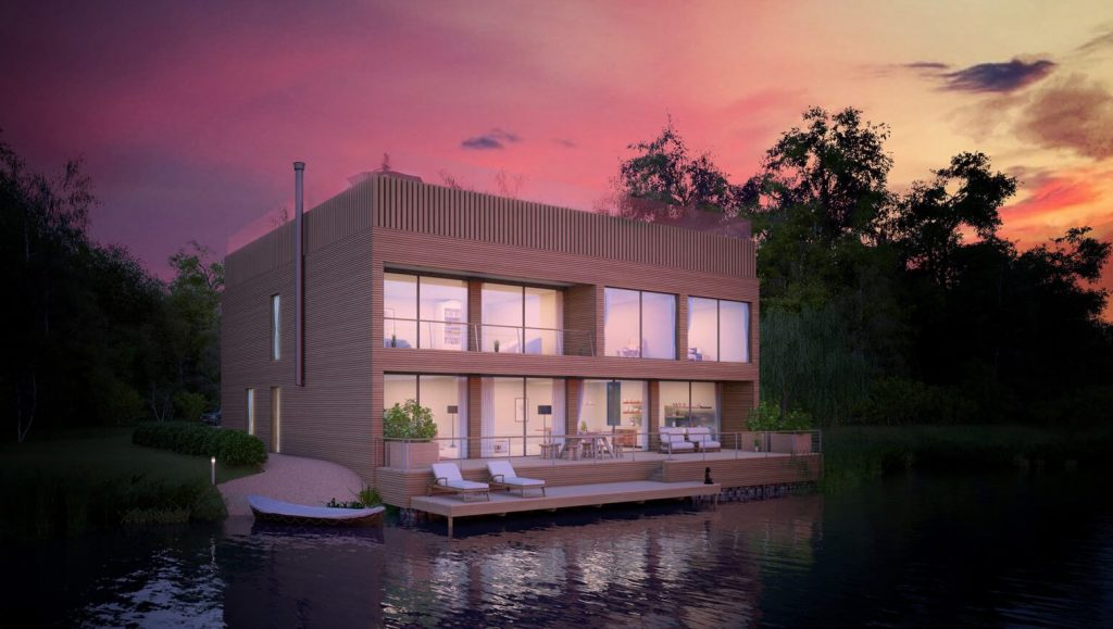 Evening Sky 3D Architectural Visuals - Yoo Lakes - Marketing Material