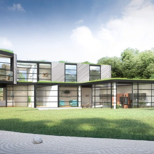 3D Architectural Rendering - Bentleys and Carter Design - Rear of Property