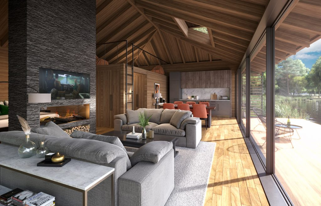3d-visualisation-lakeside-cabin-interior